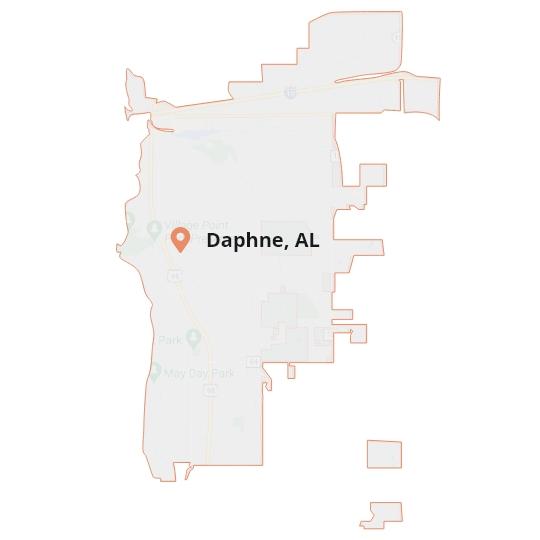Daphne, AL Map