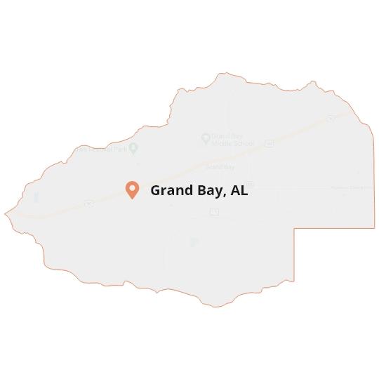 Grand Bay, AL Map