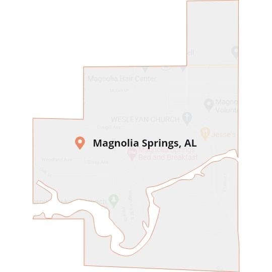 Magnolia Springs, AL Map