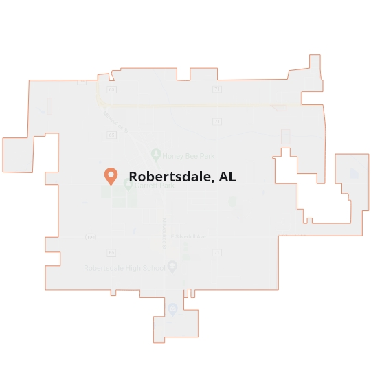 Robertsdale, AL Map