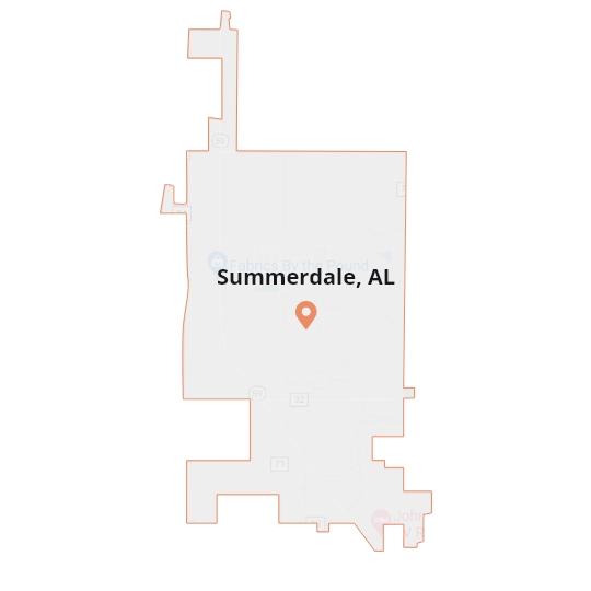 Summerdale, AL Map