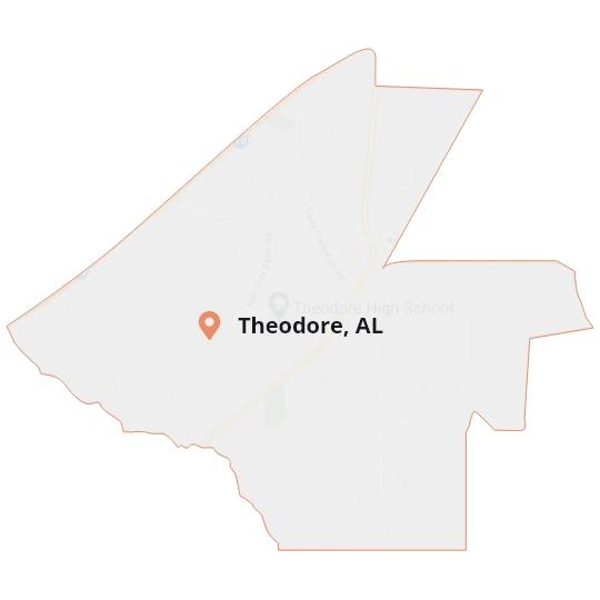 Theodore, AL Map