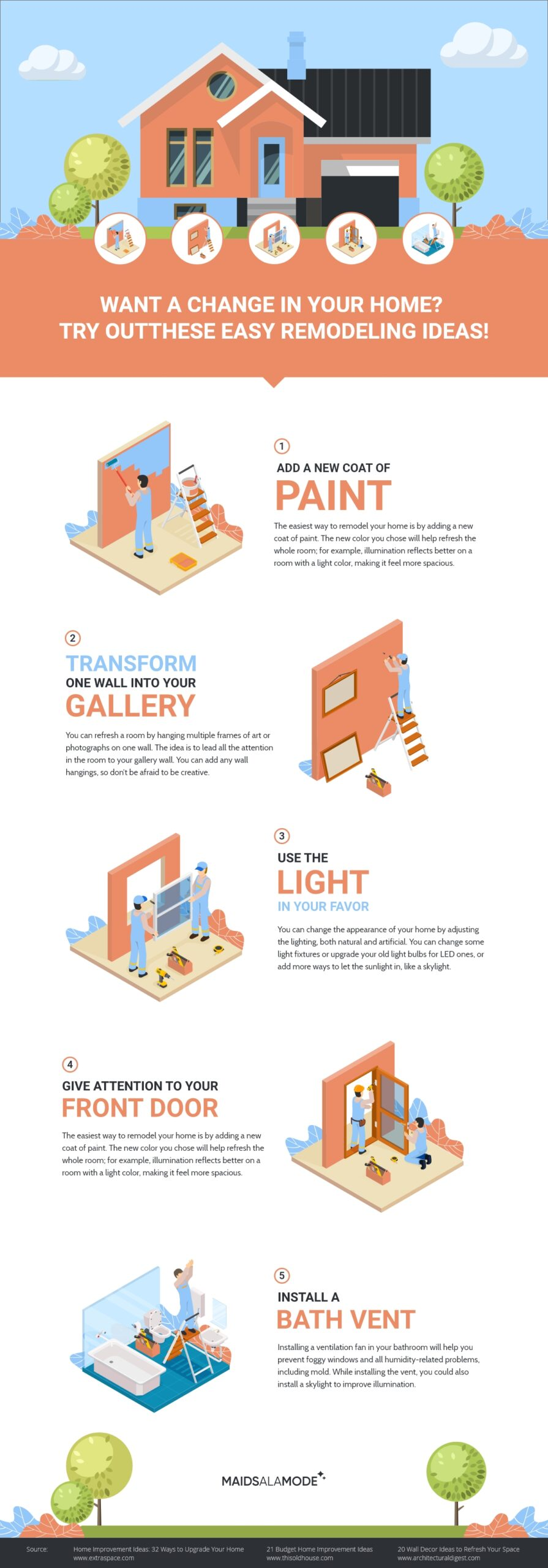 Easy Remodeling Ideas Infographic
