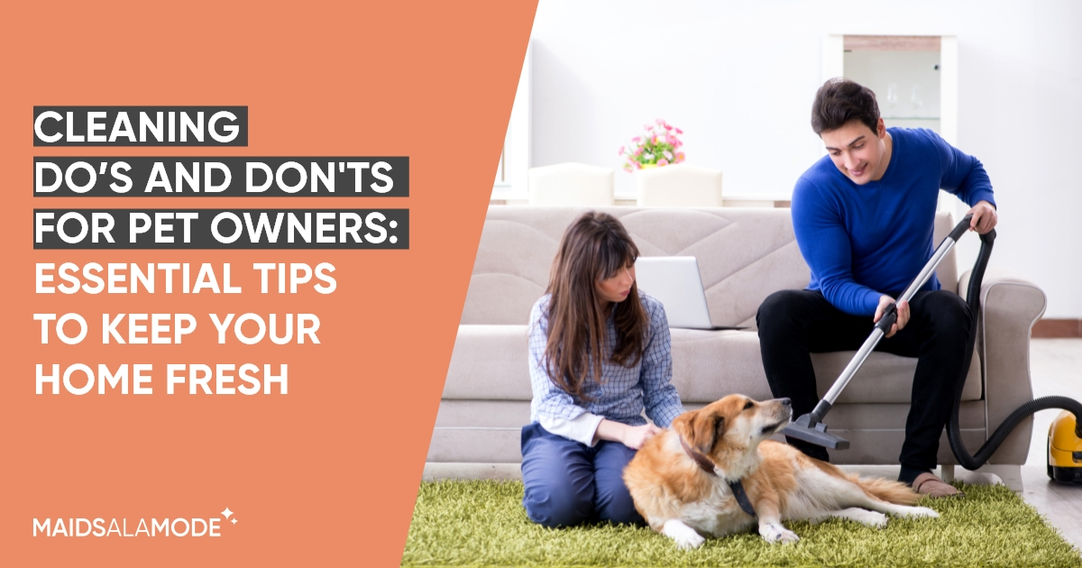 Cleaning Do's and Don'ts for Pet Owners