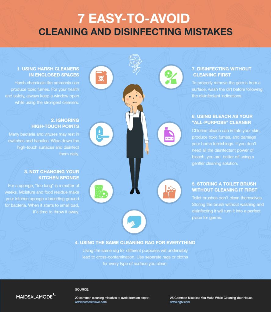 7 Easy-to-avoid Cleaning And Disinfecting Mistakes